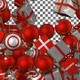 Christmas Balls and Gift Boxes Transition - Red White - VideoHive Item for Sale