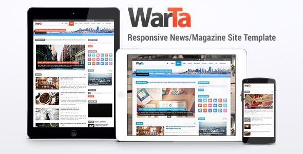 Warta - szablon strony z wiadomościami / czasopismami