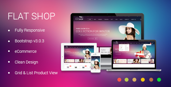 The New Flat Shop - HTML Template