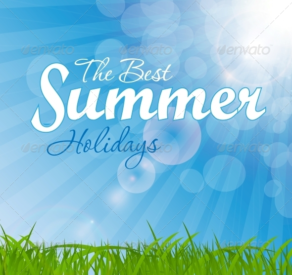 Abstract Natural Summer Background