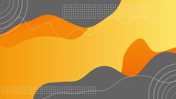 Abstract Yellow Orange Fluid Shape Modern Background HD