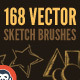 168 Vector Art Brushes - Bundle - GraphicRiver Item for Sale