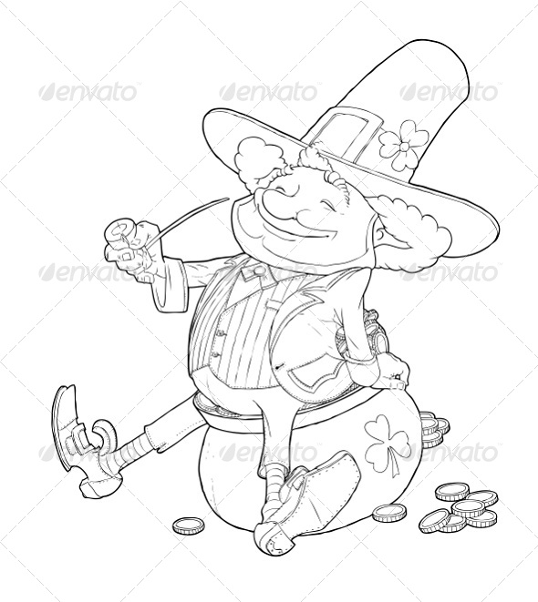 Elf Leprechaun Smoking Pipe For Saint Patrick's