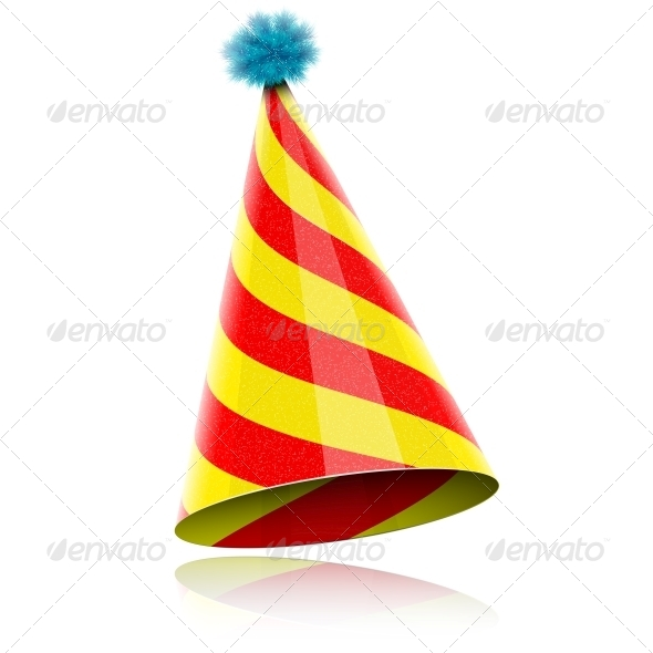 Colorful Glossy Hat For Celebration.