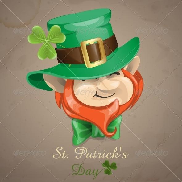 St Patrick's Day Leprechaun Face