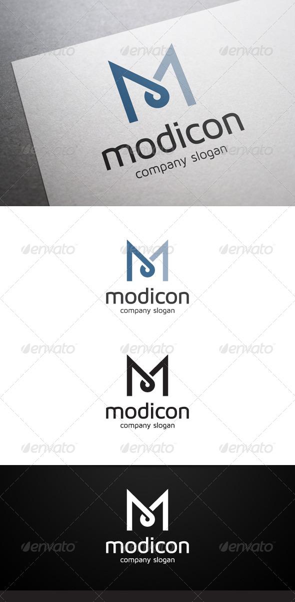 Modicon M Letter Logo