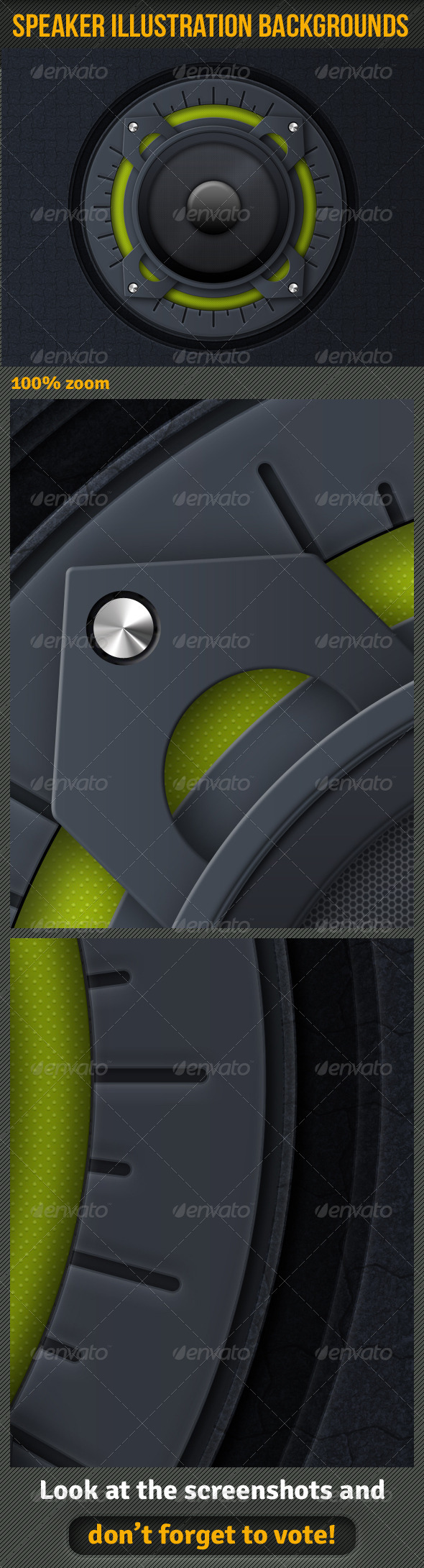 Speaker Illustration Background