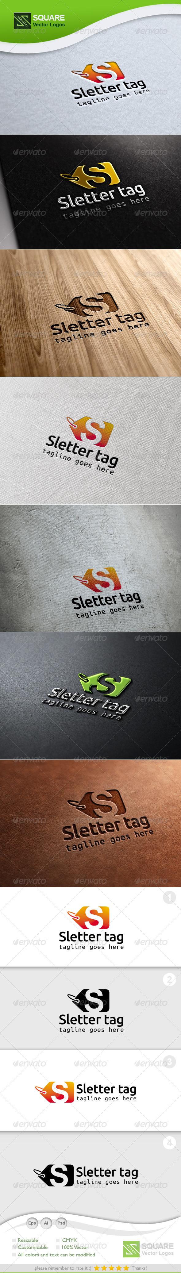 S, Tag Vector Logo Template