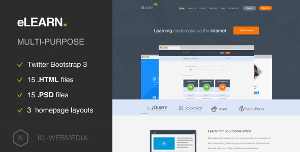 eLearn - Multi-Purpose HTML5 Template