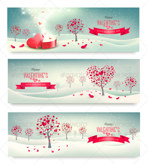 Valentine Trees with Heart-Shaped Leaves