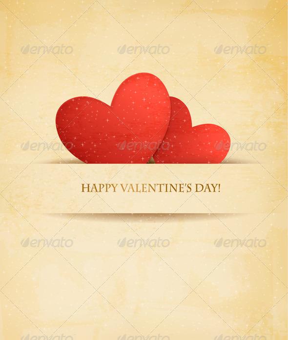 Holiday Vintage Valentine`s Day Background