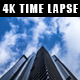 Urban High Building with Moving Clouds - VideoHive Item for Sale