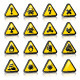 Set of Three-Dimensional Warning Hazard Signs - GraphicRiver Item for Sale