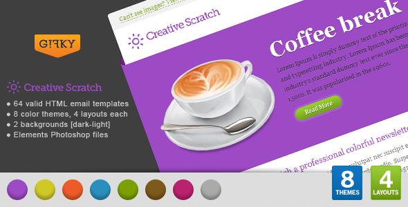 Creative Scratch Email Template