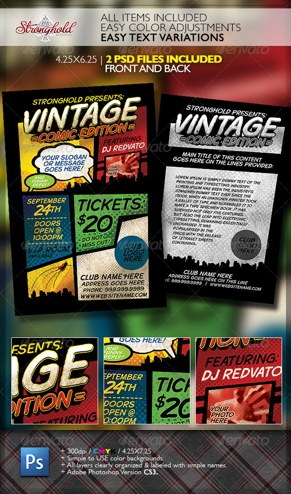 Comic Graphics, Designs & Templates from GraphicRiver