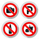 96 Prohibited Symbols, Modern Paper Labels - GraphicRiver Item for Sale