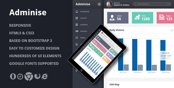 Adminise – Corporate Admin Panel Template