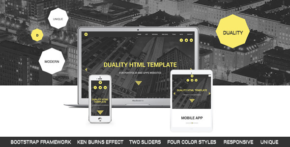 Duality - Portfolio and Apps HTML5 Template