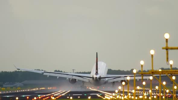 Airliner Landing in a Crosswind