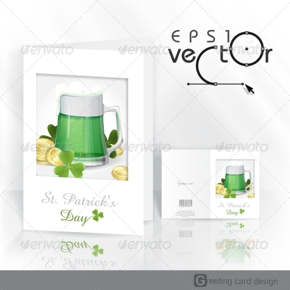 Mug of Green Beer for St Patrick's Day