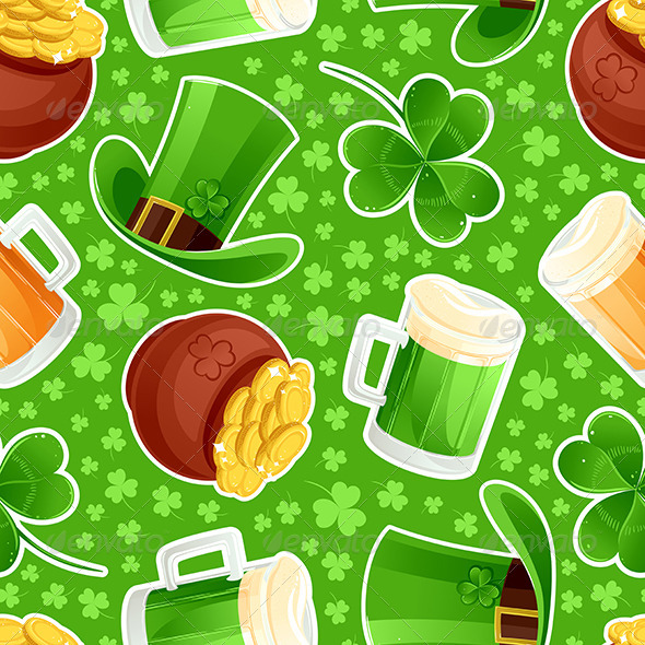 Seamless Green Background St. Patrick's Day