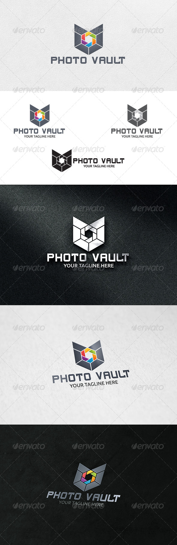 Photo Vault - Logo Template