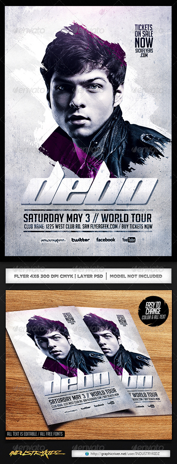 PSD and Trance Flyer Templates from GraphicRiver