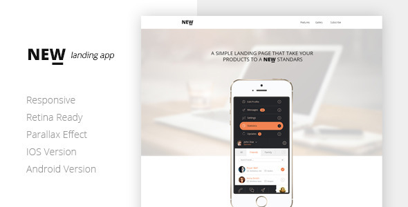 NEW Html App Landing Page Template