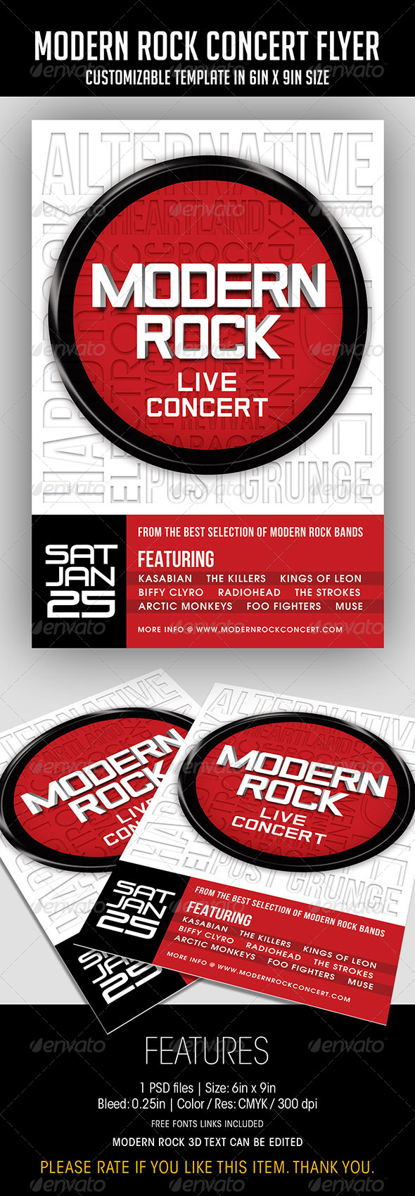 Modern Rock Graphics, Designs & Templates from GraphicRiver