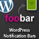Foobar - WordPress Notification Bars - CodeCanyon Item for Sale