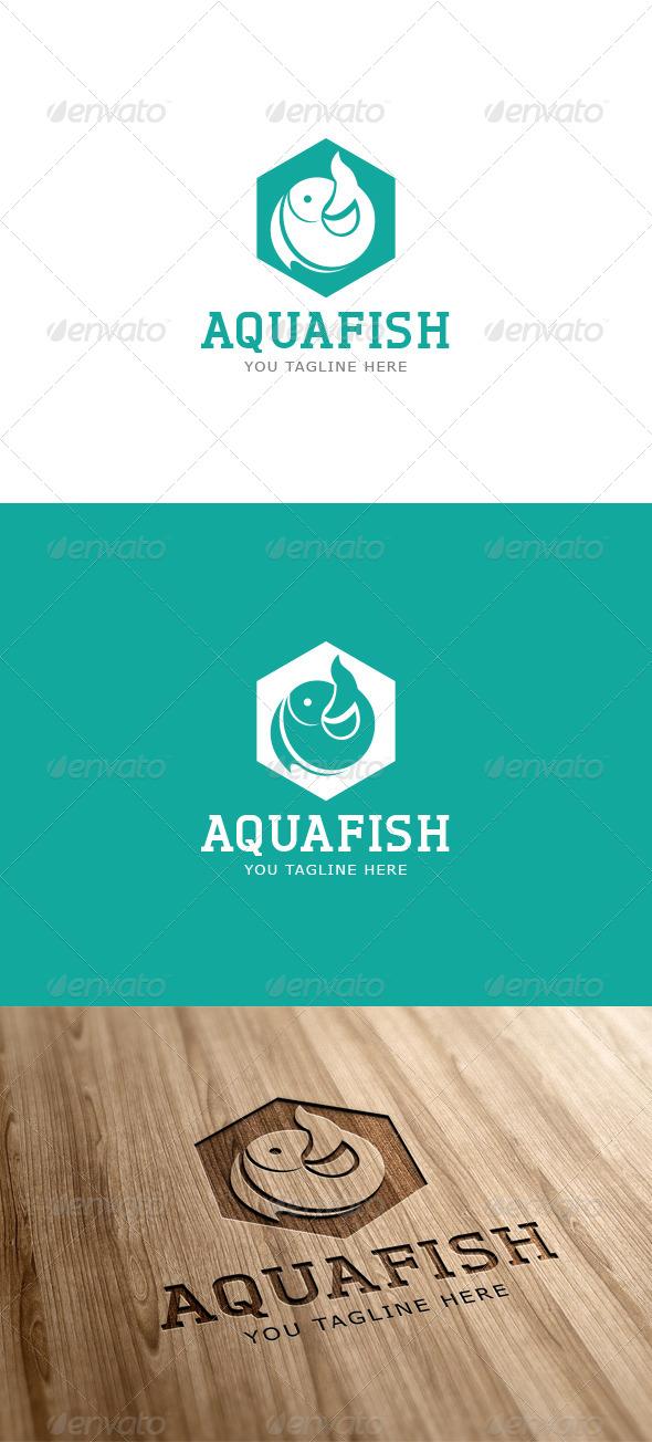 Aqua Fish Logo Template