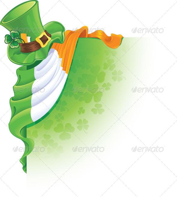Saint Patrick's Day Corner Element