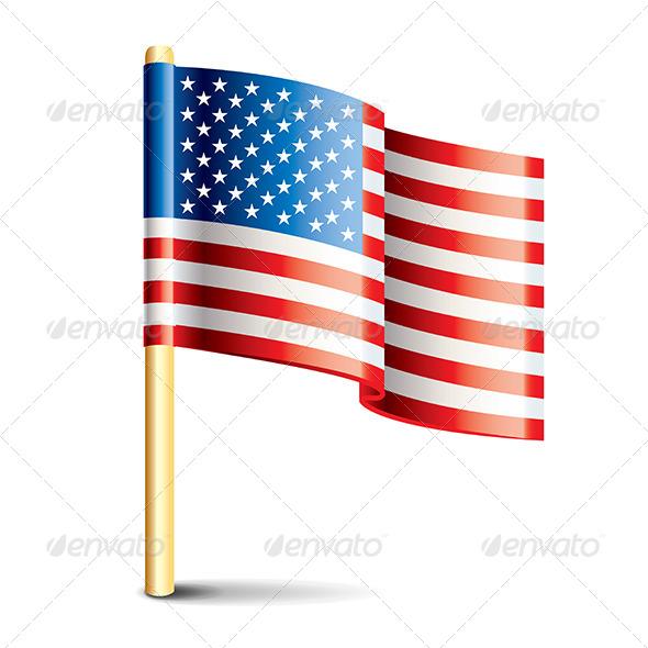 United States of America Glossy Flag