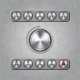 Set of Audio System Knobs on Textured Background - GraphicRiver Item for Sale