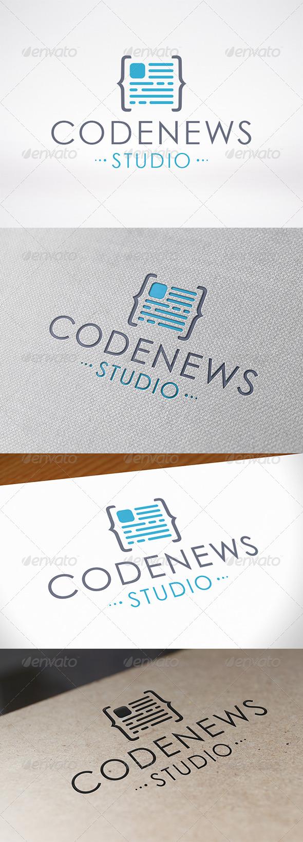 Code News Logo Template