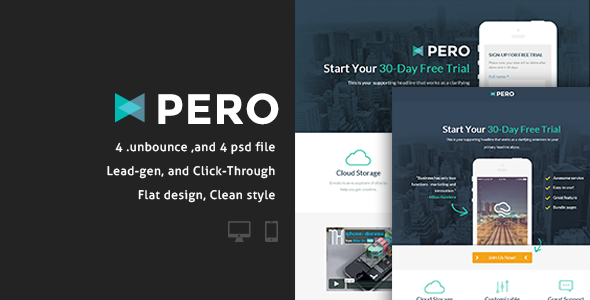 Pero - Bundle Unbounce pages