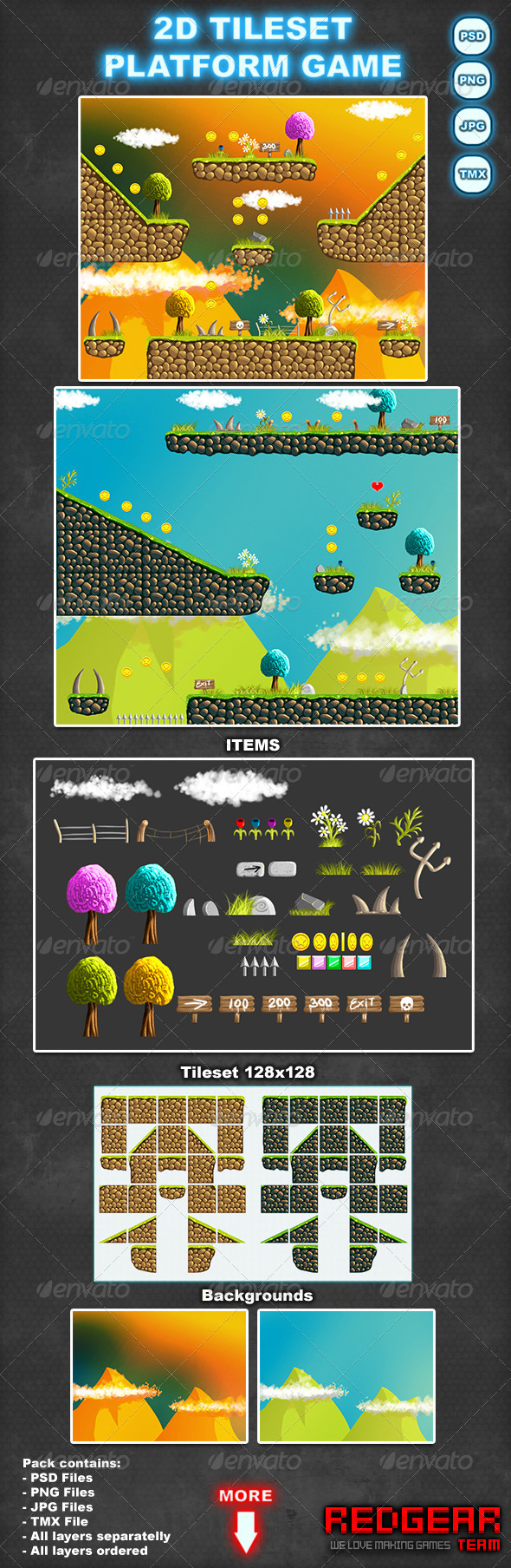 Pixel Art Game Tilesets from GraphicRiver