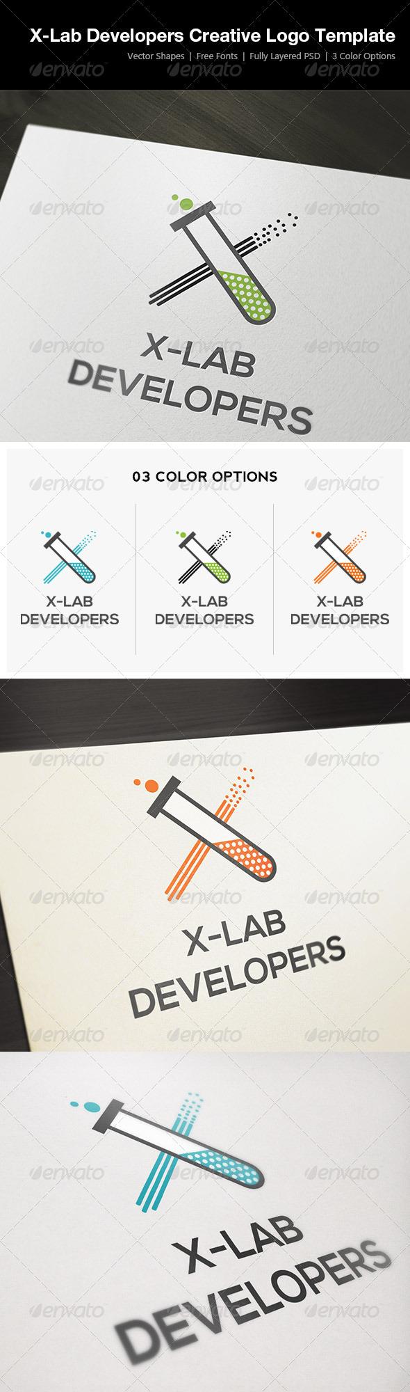X-Lab Developers Creative Logo Template