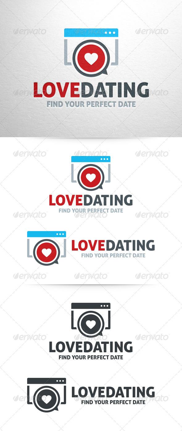 Love Dating logo Template