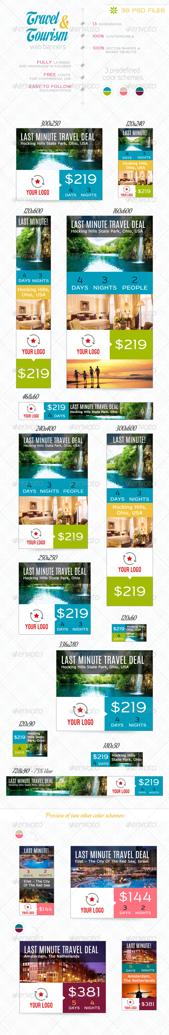 Travel Tourism Web Elements From Graphicriver