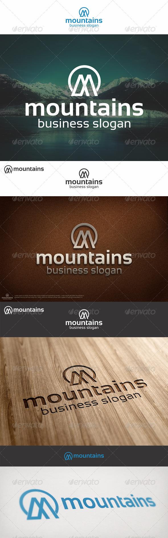 Mountains Logo M Letter