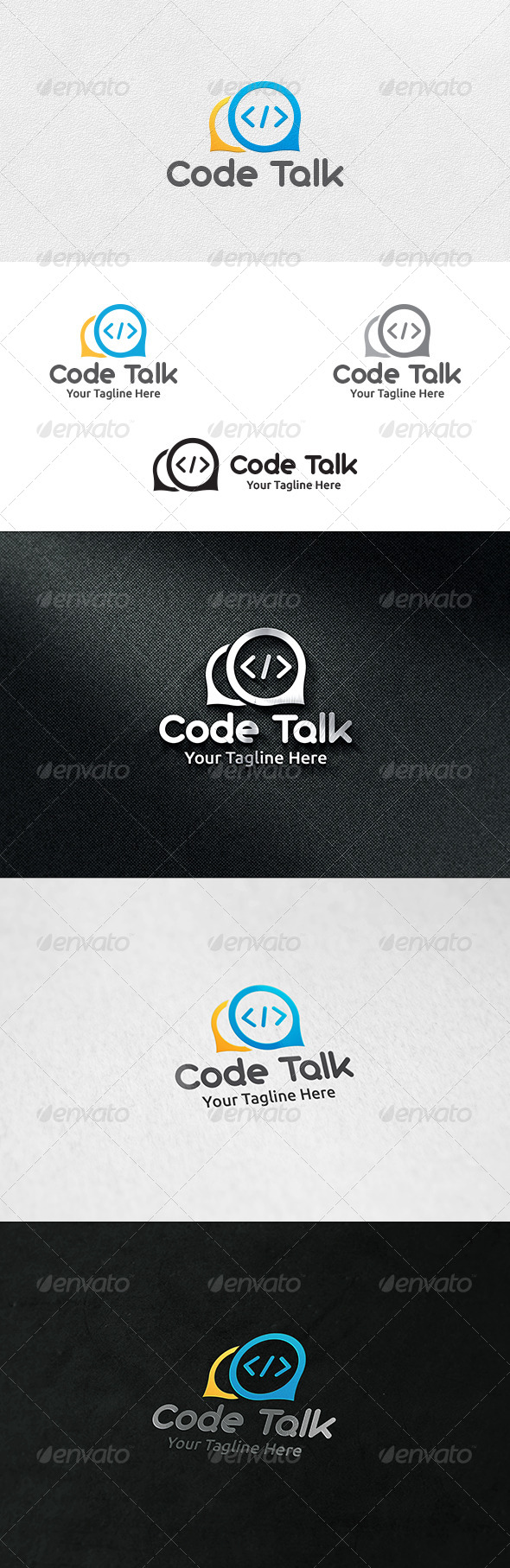 Code Talk - Logo Template