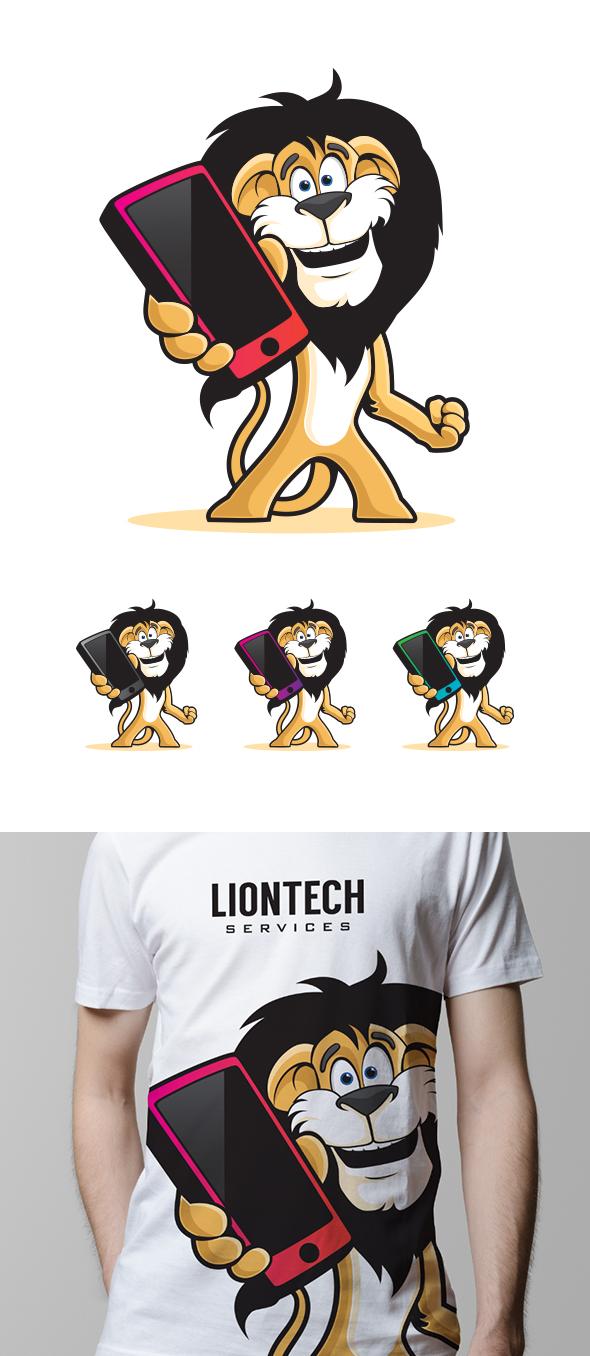 Phone Lion Mascot