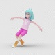 Cartoon Girl 2 with Breakingdance - VideoHive Item for Sale