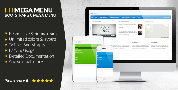 FH Mega Menu - jQuery Bootstrap 3 Mega Menu Plugin Free Download #1 free download FH Mega Menu - jQuery Bootstrap 3 Mega Menu Plugin Free Download #1 nulled FH Mega Menu - jQuery Bootstrap 3 Mega Menu Plugin Free Download #1
