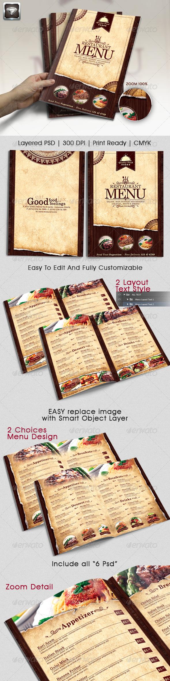 resturant menu templates.html