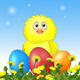 Chicken with Easter Eggs - GraphicRiver Item for Sale