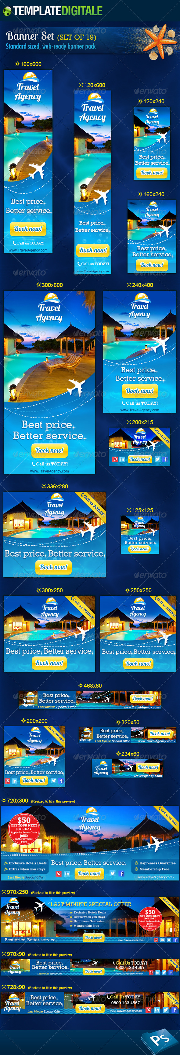 Promo Travel Web Elements from GraphicRiver