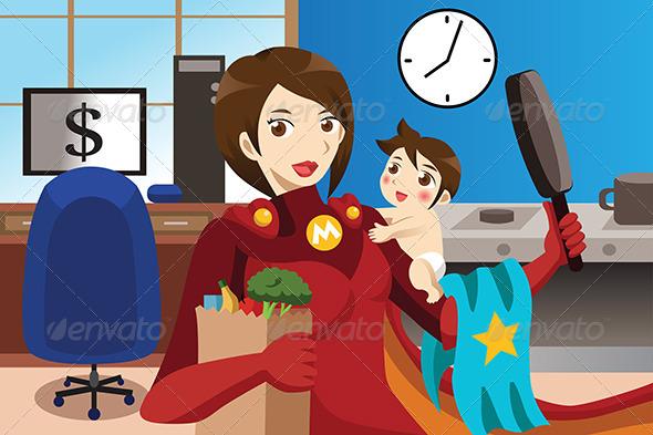 Superhero Mom Concept