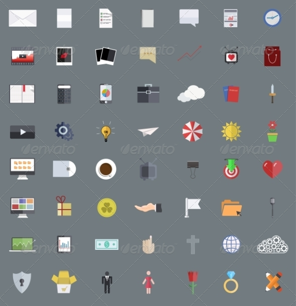 Modern Flat Design Icons